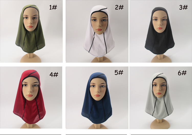 Hot Products Breathable Scarf Non-Slip Stretchy One-Piece Football Scarves Muslim Women Mesh Sports Full Cover Hijabs