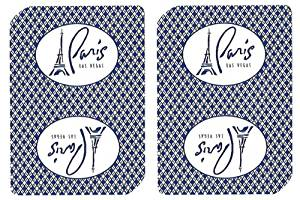 1 Deck Paris Casino Playing Cards Used In Real Casino - Free Bounty Button Kit