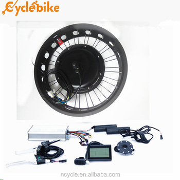 "48V 500W 20"" Front Fat Tire Electric Bicycle e-Bike Conversion Kit Cycling Hub gearless motor"