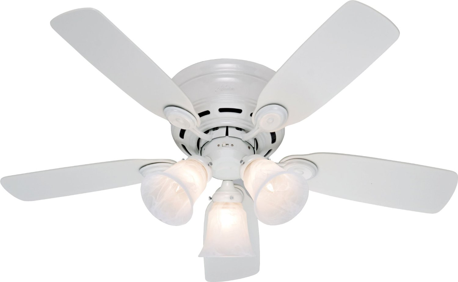 Get Ations Hunter 21880 Low Profile 42 Inch 5 Blade 3 Light Ceiling Fan