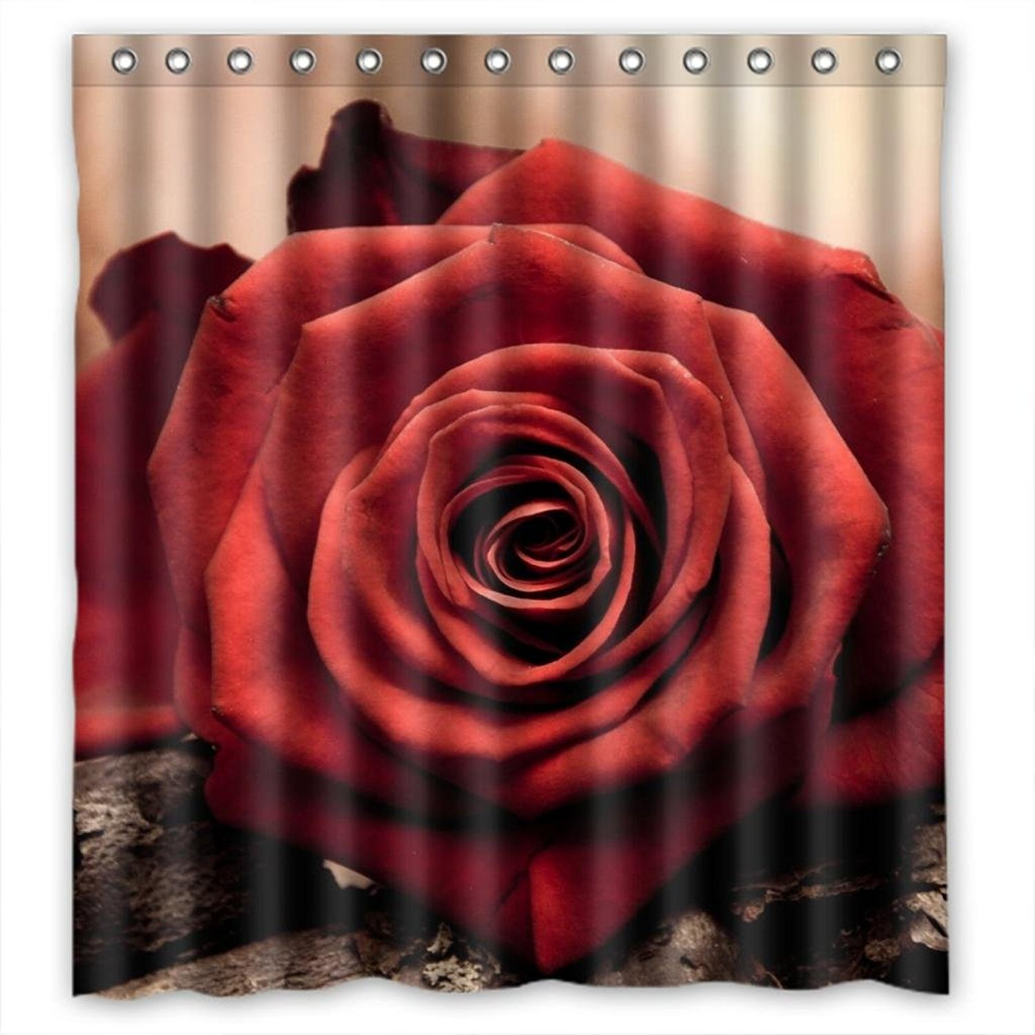 Cheap Red Rose Shower Curtain, find Red Rose Shower Curtain deals ...