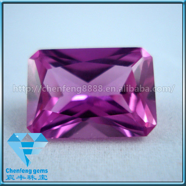 new arrival octagon synthetic ruby made in wuzhou China