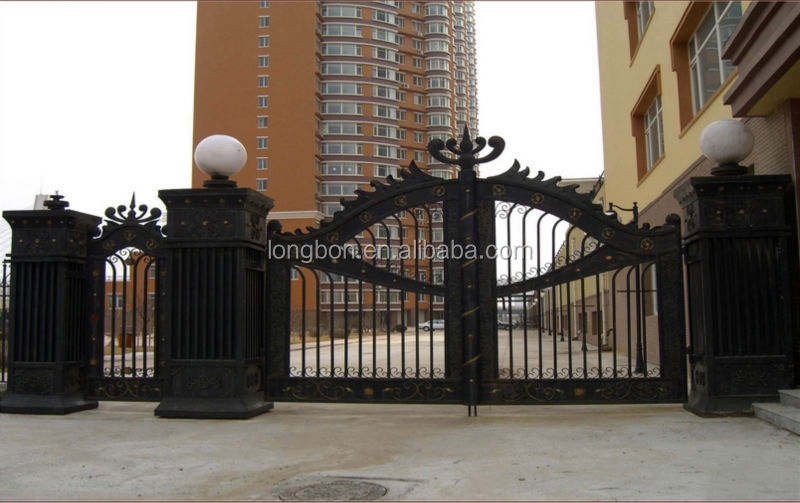 2015 Top-selling security sliding iron main gate design