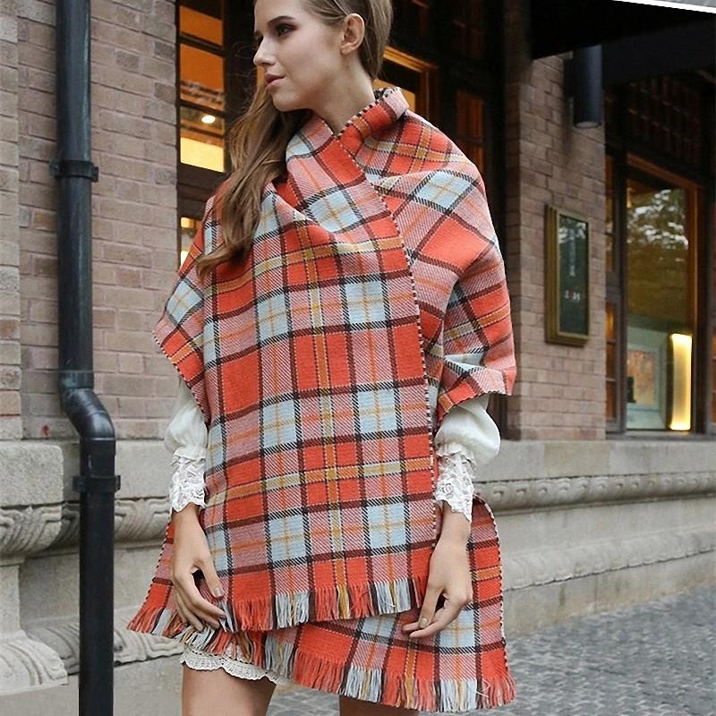 za font b Winter b font Brand Scarf Women 2016 Foulards Femme long Blanket Scarf Plaid