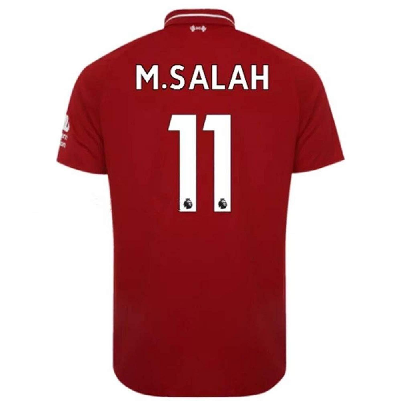 Men's Liverpool Home Jerseys #11 M Salah Jerseys 2018-2019 Soccer Jersey Red(S-XXL)
