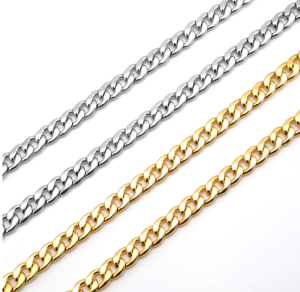 8MM 10MM Men's Stainless Steel Cuban Link Chain Necklace