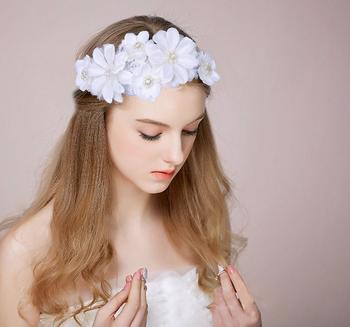 Flower Crown Wedding.China Suzhou Bridal Hair Accessories 2019 White Wedding Flower Crown Wedding Goods Buy Bridal Hair Accessories Flower Crown Bridal Tiara Wedding