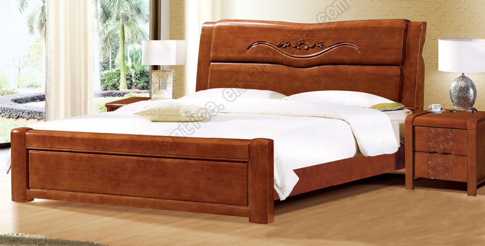 Latest design rubber wood double bed buy latest wooden for Double bed with box design