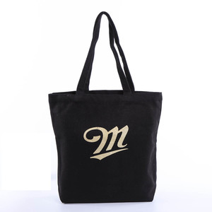 Customized Logo Printing Canvas Cotton Promotional Shopping Tote Bag