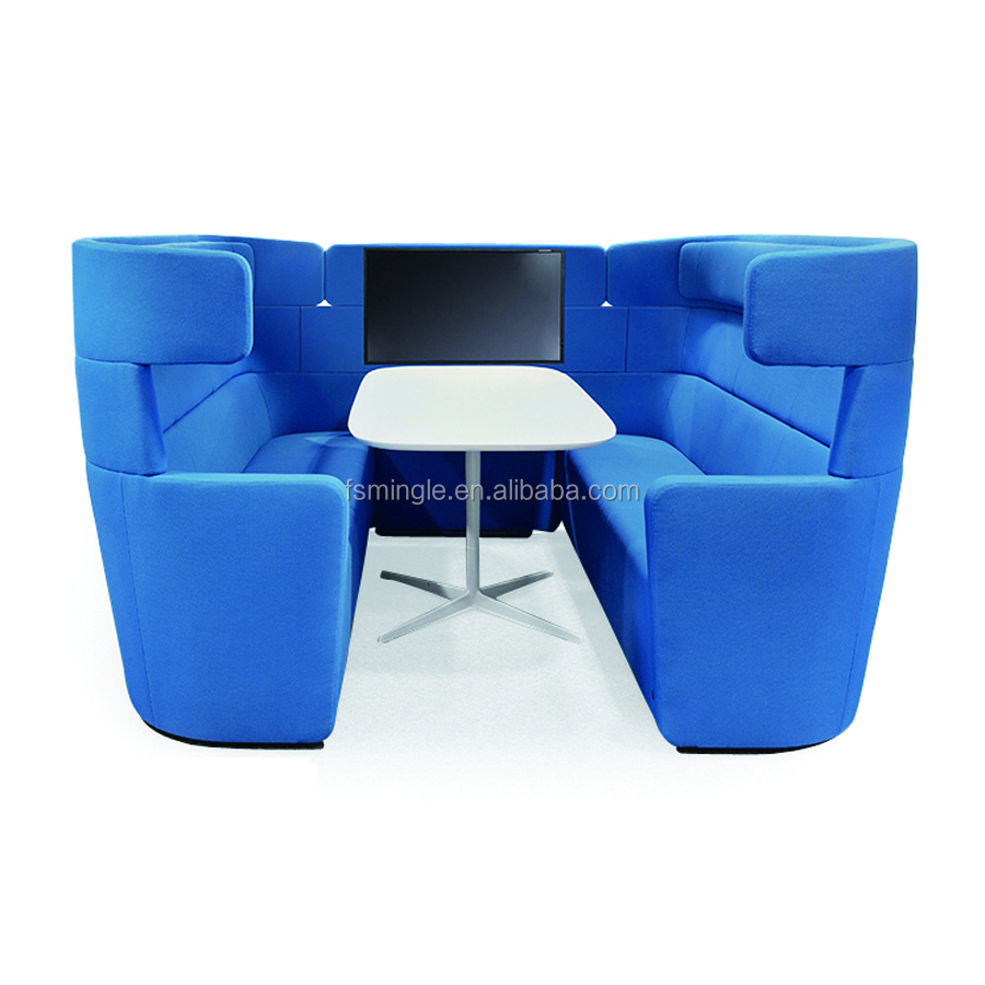 High back video TV display office booth VIP meeting pods