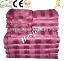 Bright Modal Cool Bath Ribbed Striped velour towel fabric