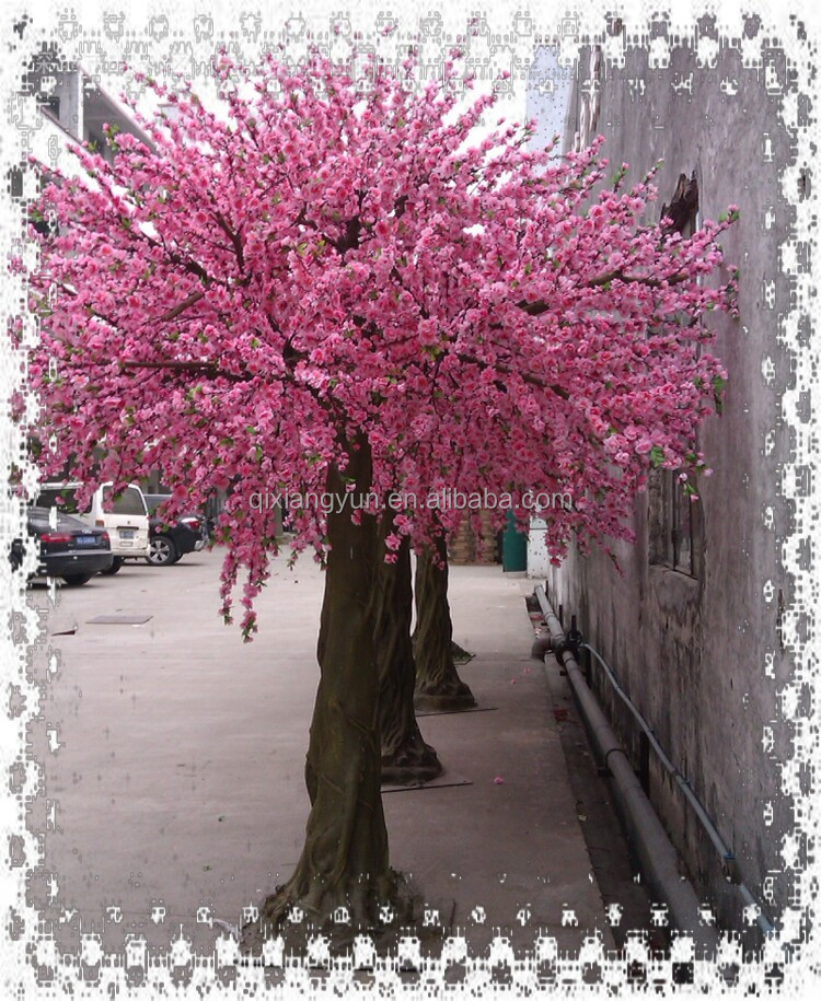 four season wholesale artificial fake cherry blossom tree New hot artificial tree for wedding