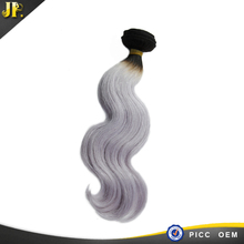 2015 fashion milky long lasting new products human star raw human grey hair extension