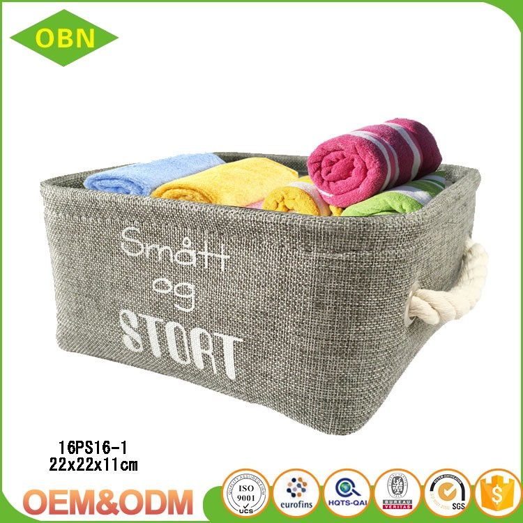 Wholesale Cheap fashion foldable canvas toys storage box made in China