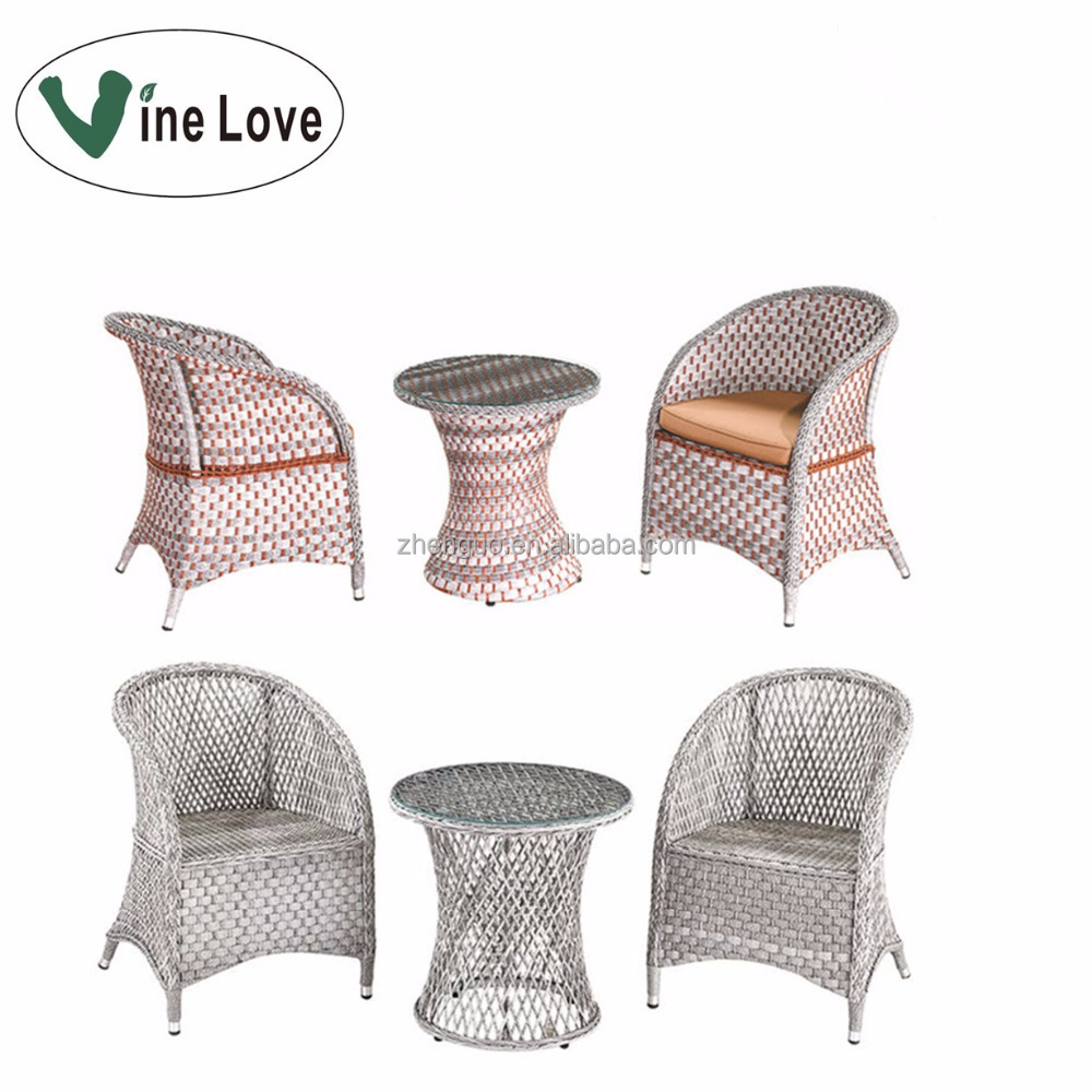 Knitted steel modern garden outdoor rattan patio furniture wicker