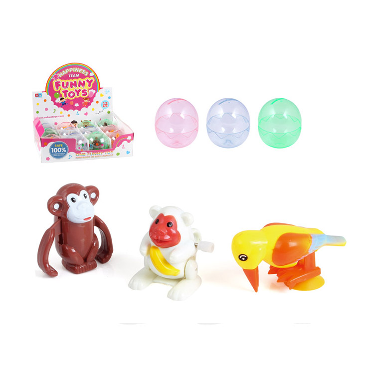 Promotion Gift Plastic Wind Up Toys Forest Animal In Capsule