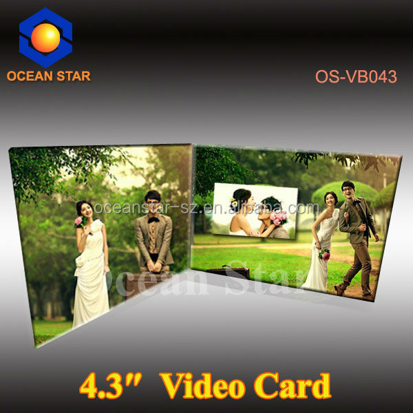 video brochure with usb video digital photo frame card in print technology