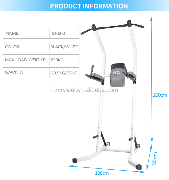 SJ-600 Goedkope Prijs Multi Home Gym Trainer Verstelbare Power Tower/Staande Station/Pull Up Bar