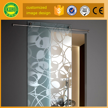 Buy 12mm Digital Printing On Glass French Sliding Glass Closet Doors For  Bedroom