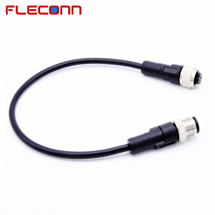 IP67 Waterproof Dust-Proof 3 Pin Male to Female M12 Extension Cable