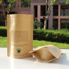 factory price custom flat handle kraft paper bag with clear window