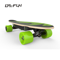 DR4FUN blank black hole longboard complete skateboards fire electric skateboard for child