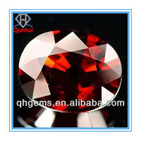 oval shaped garnet cz gemstone