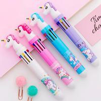 Cute 10 Colors Ballpoint pen Union Flamingo Mermaid Multi-Functional colorful pen for Students Office Supplies