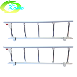 aluminum bunk bed side rails for hospital bed, collapsible railing