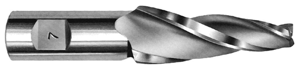 """Tapered End Mills (H.S.S.) - 20, 25 & 30 Degree Per Side Tip Dia.: 5/16"""", LOC: 1"""", Shank: 3/4"""", OAL: 3-1/4"""", 25 Degree"""