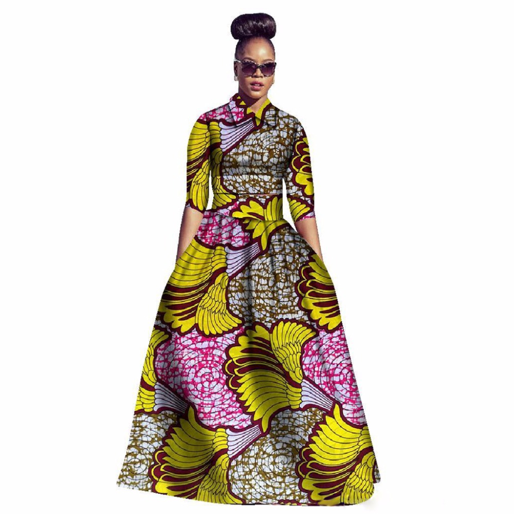 Two Piece Set Dashiki CropTop And Skirt Floral Print African Clothing Women Ethnic Traditional Suit