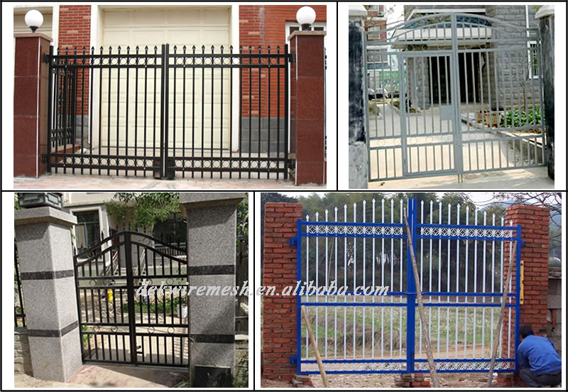 Galvanized And Powder Coated Home Wrought Iron Pipe Gate Design ...