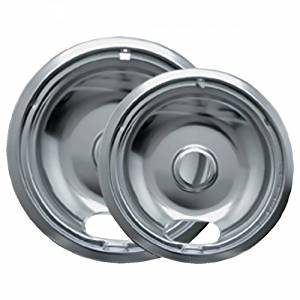 "Range kleen Drip Bowl Chrome 1 Small / 6"" And 1 Large / 8"", 2 Pk - 12782XCD5 by Range kleen"