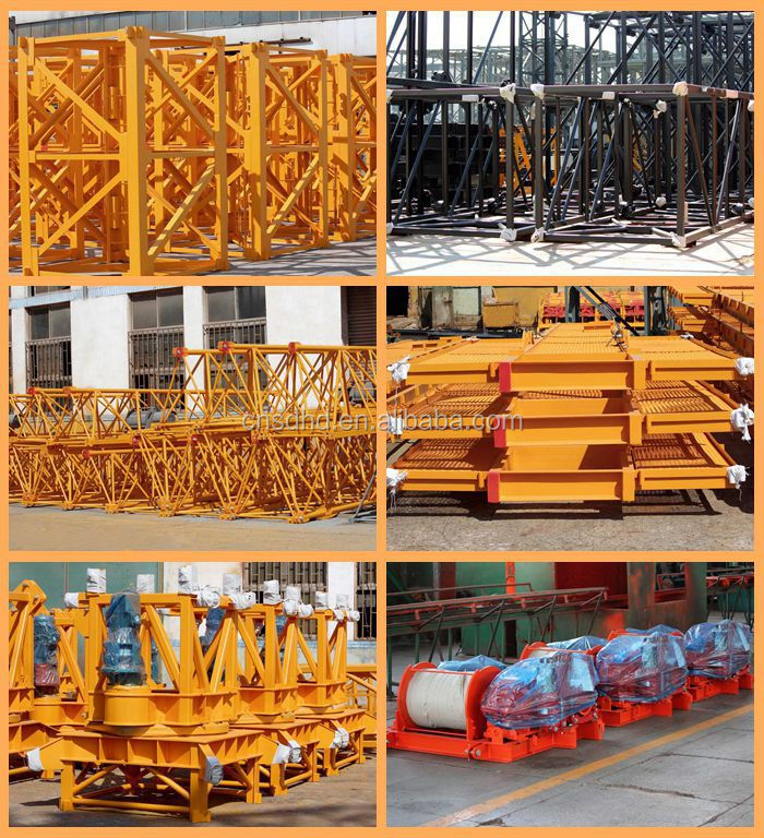 3t floor climbing tower crane hammer head tower crane