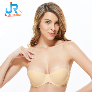 Bra factory directly marketing bra push up self adhesive nude silicone bra