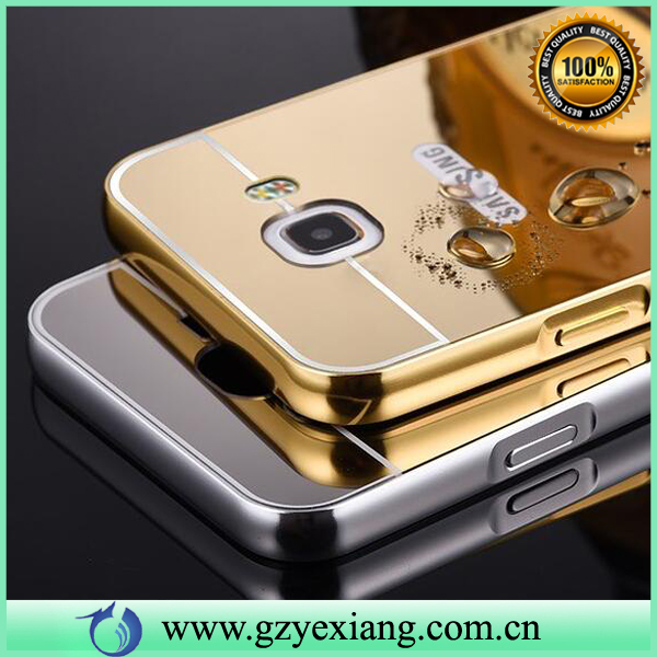 In Stock Luxury Aluminum Back Cover Mirror Case For Samsung Galaxy C7 Metal Bumper