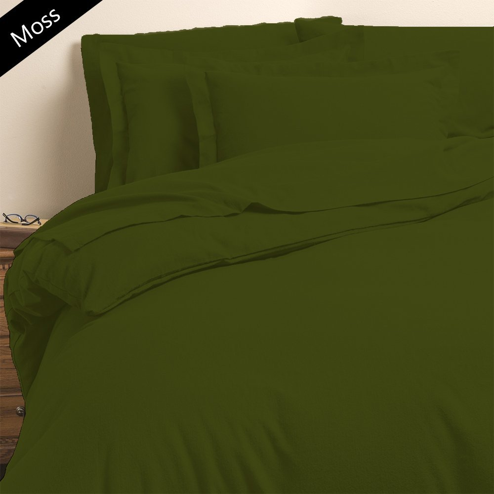 Lussona Collection 600 Thread Count 100% Pima Cotton Bed Sheets - 4 Piece Bed Sheet Set 25'' Deep Pocket HIGHEST QUALITY & LOW PRICE- Wrinkle Free Hypoallergenic Bedding- Olympic Queen ,Moss.