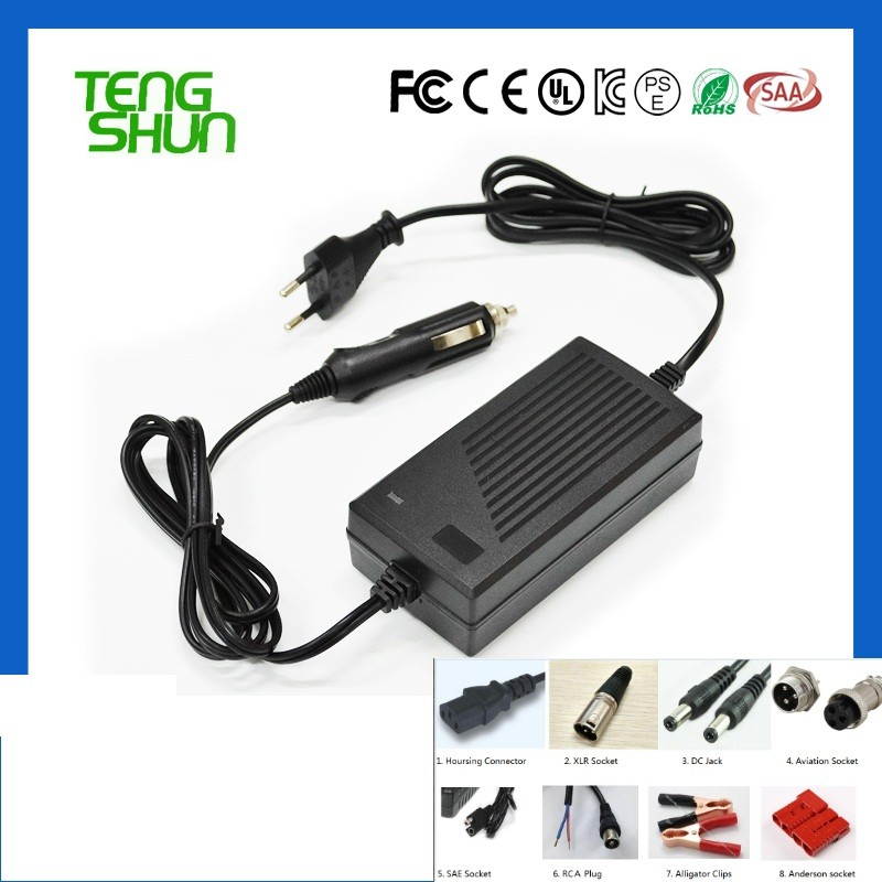 top quality 12v 4a 24v 2a automatic sealed lead acid battery charger 12v 24v