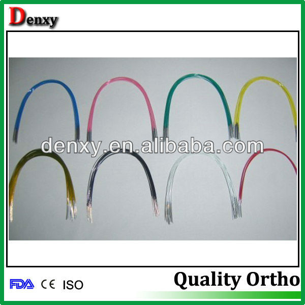 Orthodontics Materials Dental Colored Niti Arch Wire Coated Niti ...