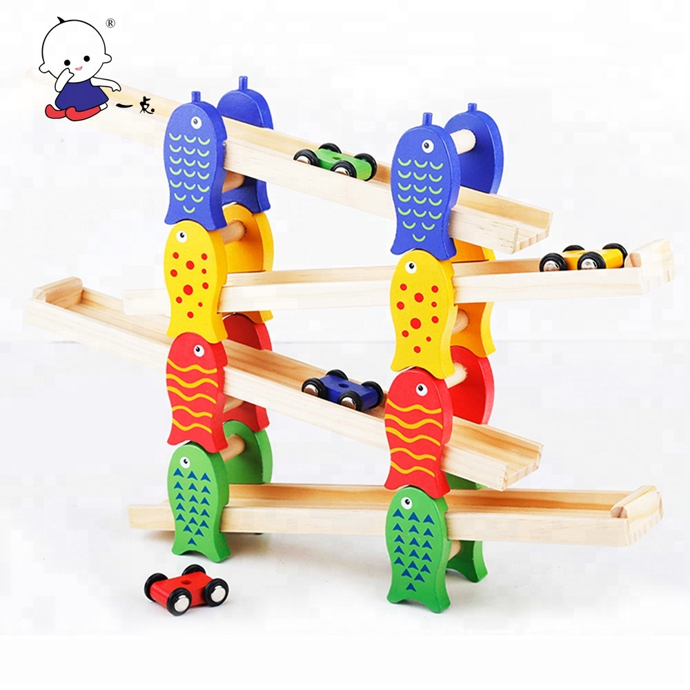 2018 WGT003 children's wooden Demountable slide car <strong>game</strong> for kids paying <strong>game</strong>