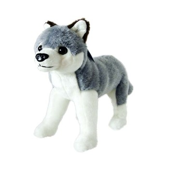High Quality Plush Wolf Stuffed Toy Standing White Wolf Plush Buy