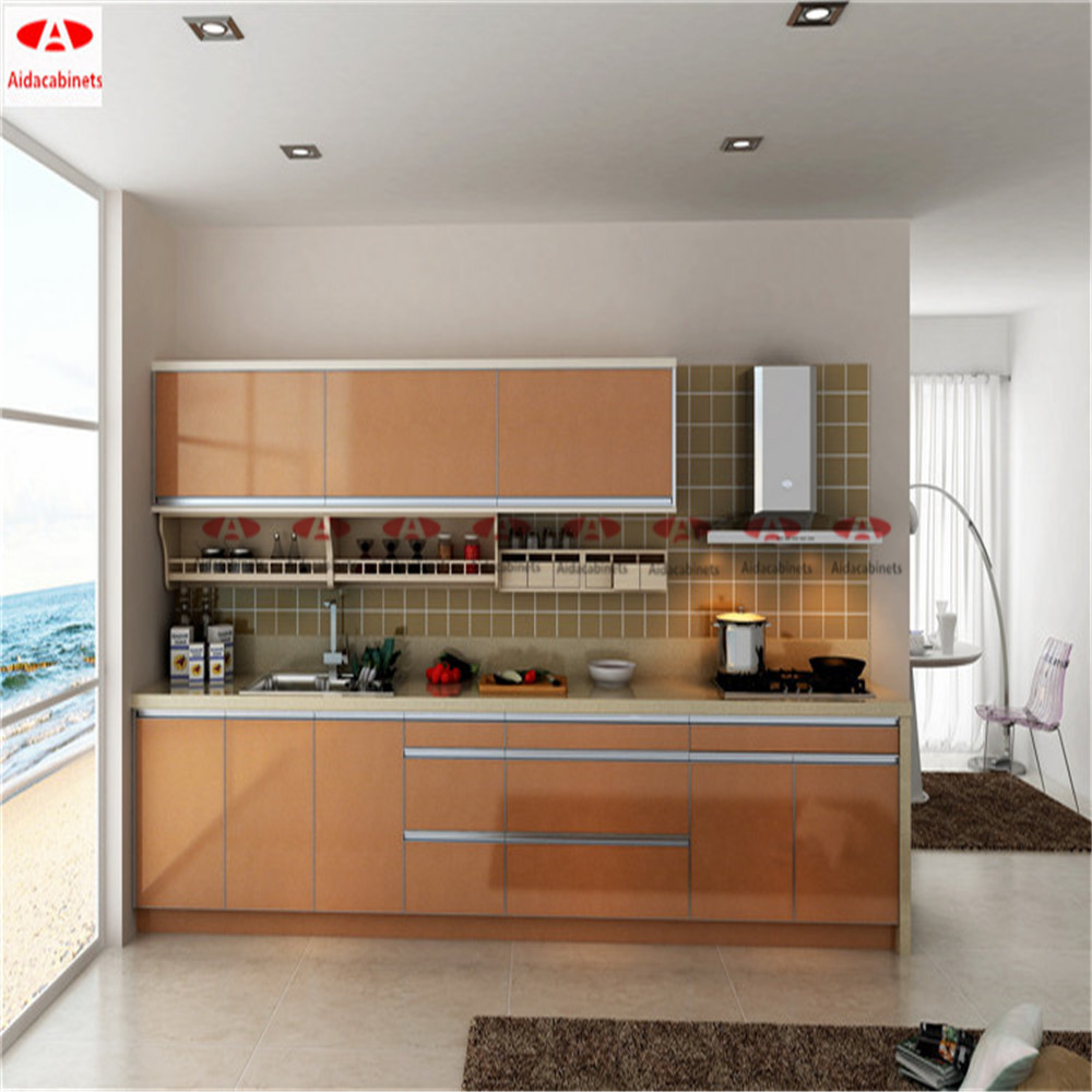 Kitchen Cabinets For Sale: Modern Stainless Steel Display Kitchen Cabinets With