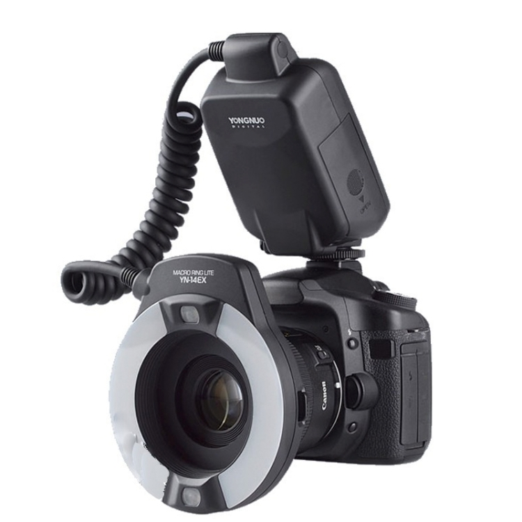Dropshipping YONGNUO YN-14EX TTL fotografie Macro Ring Flash Speedlite voor Canon EOS DSLR 5D Mark