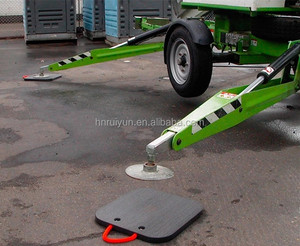 Composite crane outrigger pad rigid plastic panels high quality HDPE crane foot support plate