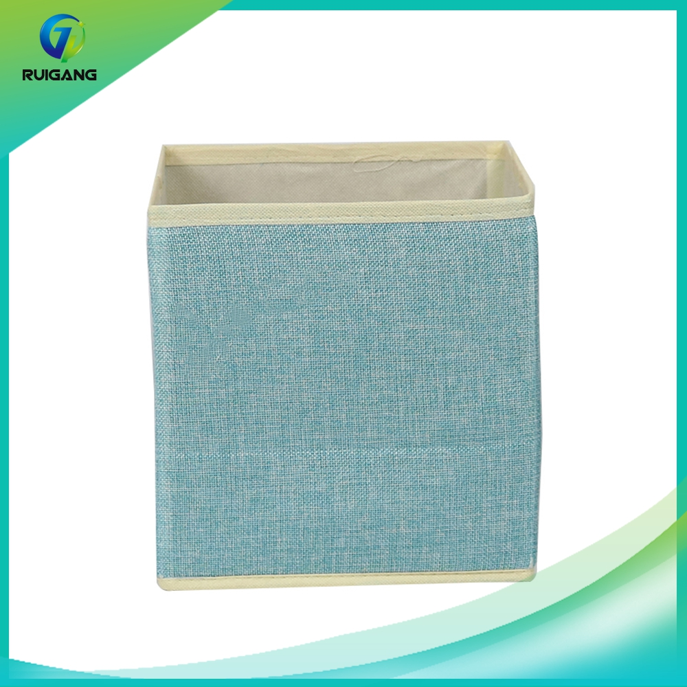 Fashional foldable durable non woven cardboard decorative storage cute box