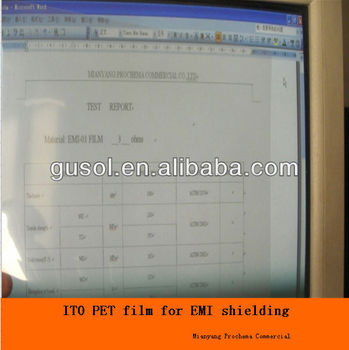 25,50,75,125mic Low Haze ITO PET Film, Clear ITO PET Film for Shielding