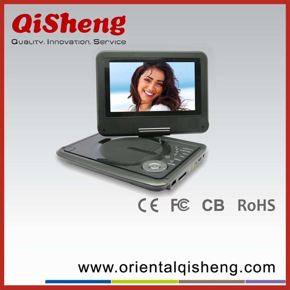 7 inch portable dvd player with TV,MP3,MP4,Radio USB,SD