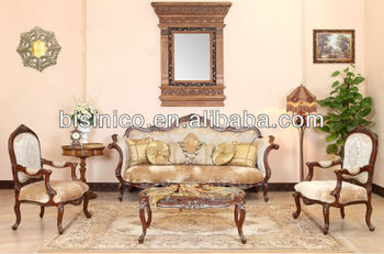 Arabia Antique Style Wooden Home furniture,Living Room Sofa Set,Luxury High  Quality Single Chair, View antique living room set furniture, Bisini ...