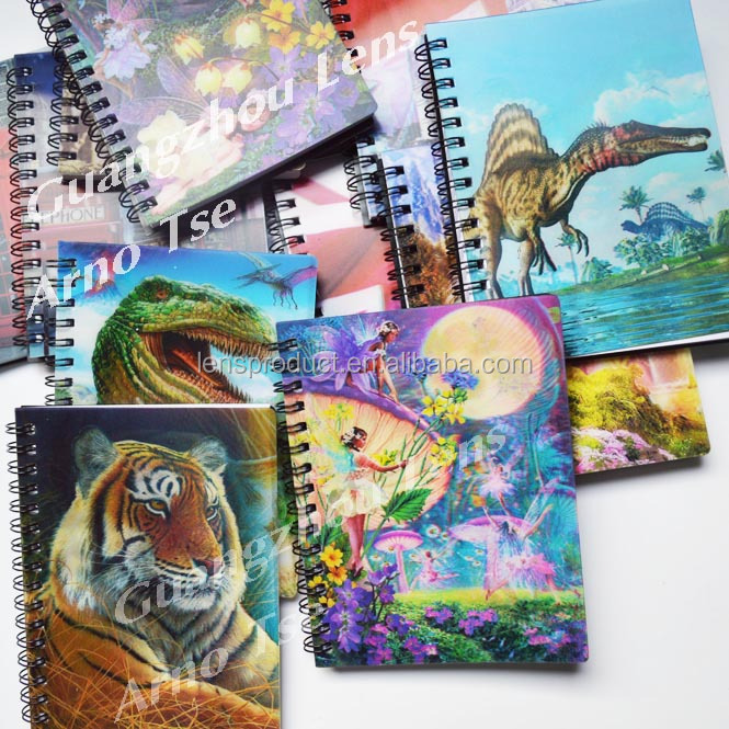 Promotional Gifts Stationery for Kids Factory Supply 3D Lenticular Notebook