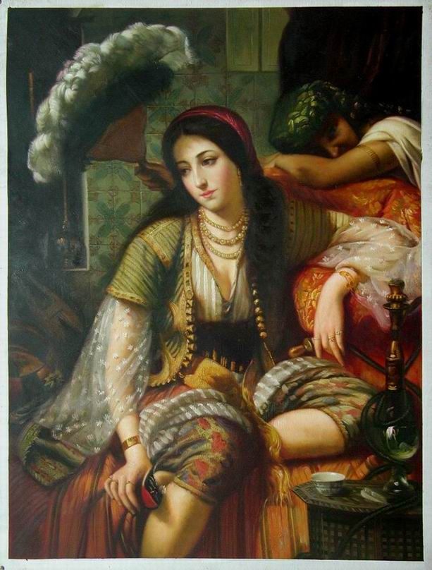 Oil Painting - Middle East Woman - Buy Oil Painting Product on ...